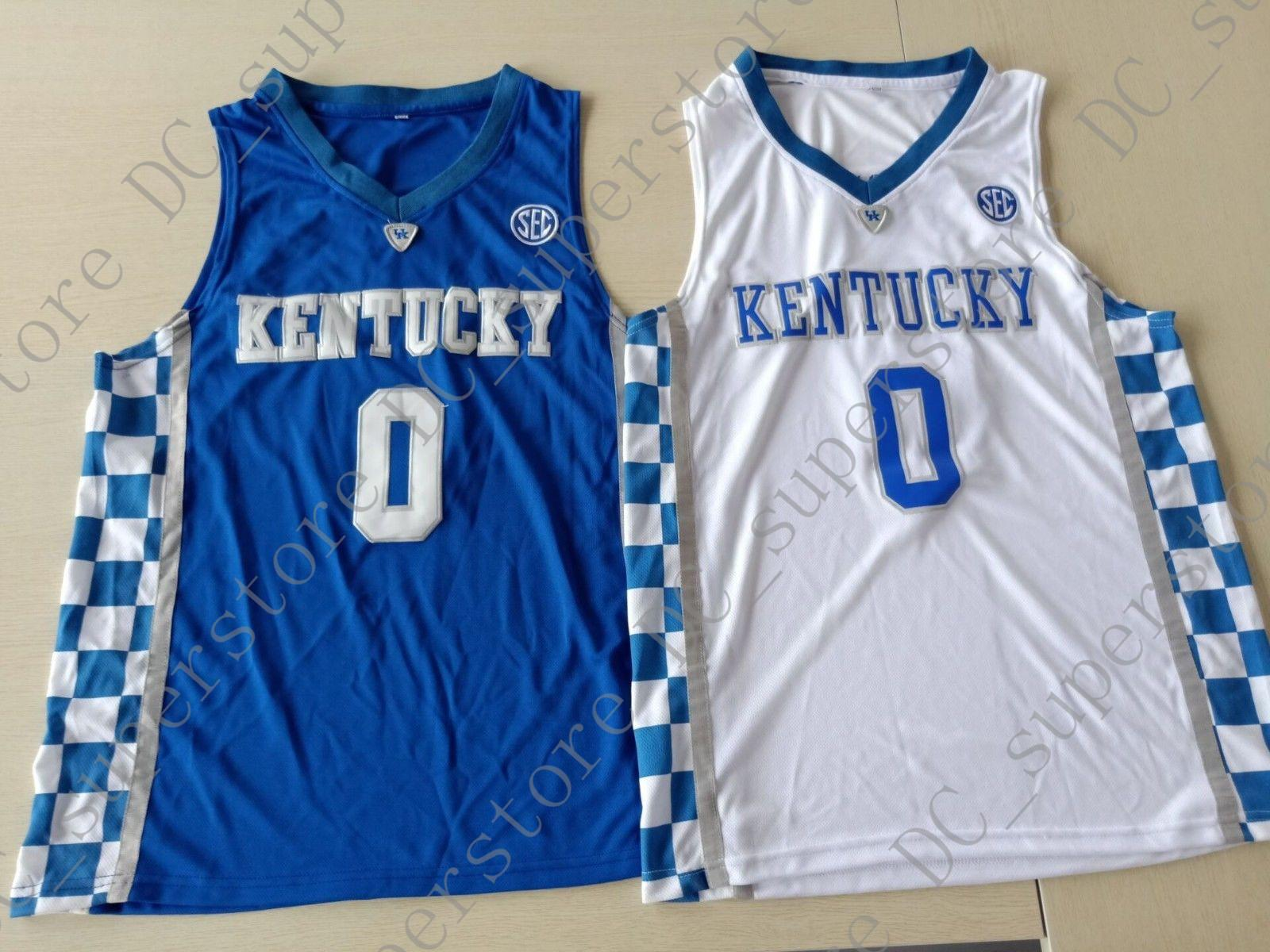 competitive price d383c ed7e3 Cheap custom Kentucky Wildcats De Aaron Fox #0 College Basketball Jersey  Stitched Customize any name number MEN WOMEN YOUTH JERSEY XS-5XL