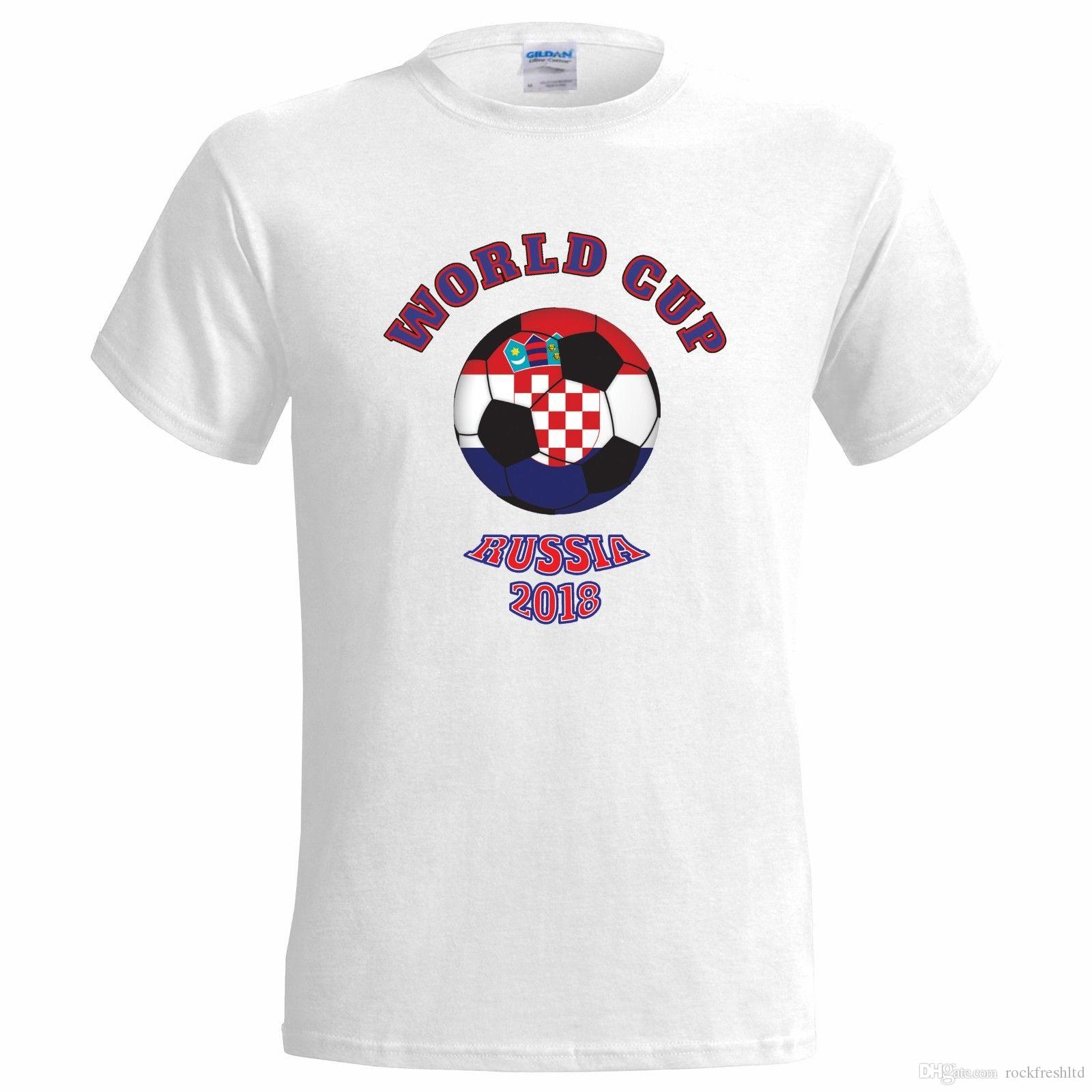 0fcc5a54fc8 CROATIA BALL WORLD CUP RUSSIA 2018 MENS T SHIRT FOOTBALL FAN SOCCER TEAM  Mens Funny T Shirts Buy Shirts From Rockfreshltd