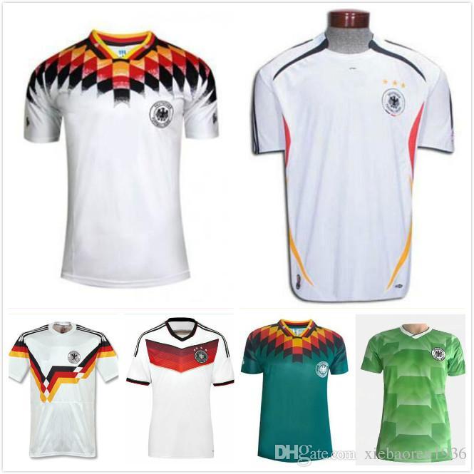 e4735a225 2019 Retro VINTAGE CLASSIC 1990 World Cup Germany Soccer KLINSMANN Matthäus Soccer  Jerseys Home White Top Thai Camisas De Futebol Jersey From Xiebaoren1936