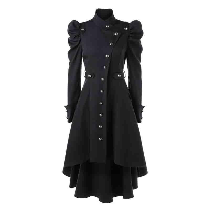 b6f85b12433535 Großhandel England Stil Winter Gothic Mantel Vintage Frauen Steampunk  Viktorianischen Swallow Tail Lange Trenchcoat Weibliche Oberbekleidung Plus  Größe Von ...