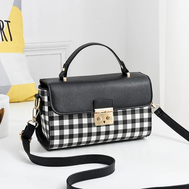 2019 Fashion Designer women Handbags Plaid Flap Metal Buckle Ladies Crossbody bags Package PU Patchwork Soft Female Shoulder bag