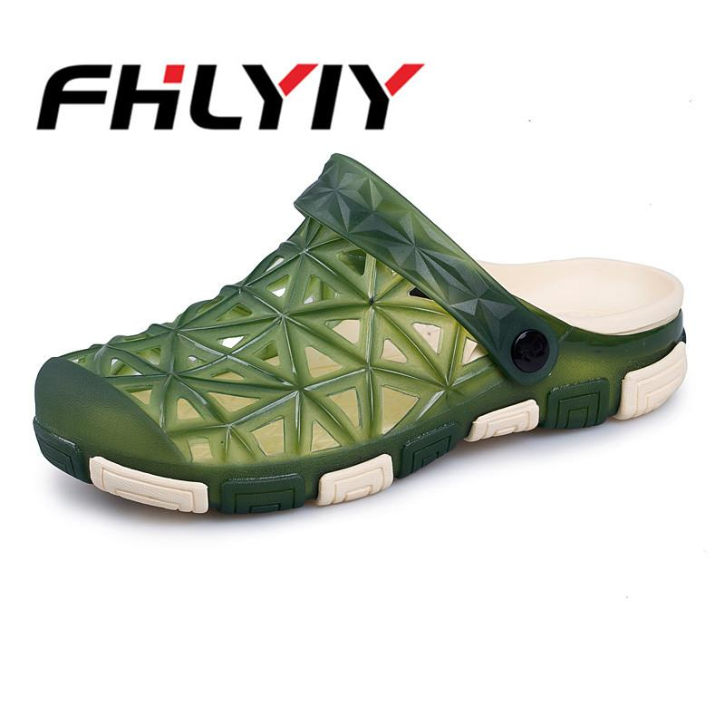 318ef46a318 Men Summer Sandals Shoes Fashion Beach Sandals Casual Flat Slip on Flip  Flops Men Hollow Slippers Fashion Outdoor Shoes