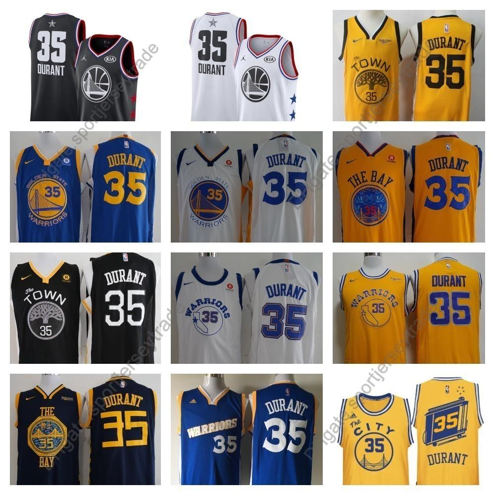 b43f6c14d56 2019 2019 Earned Mens #35 Golden Kevin Durant Warriors Edition Basketball  Jerseys City Kevin Durant Edition Top Quality Stitched Shirts S XXXL From  ...