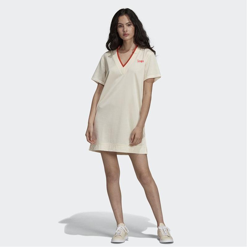 d592fa483b620 Satın Al 2019 Yeni Bayan Tasarımcı T Shirt Elbiseler Moda Kadın Marka Aktif  Elbise Lüks Yaz Kısa Elbise Katı Renk Bayan T Shirt Elbise, $46.33 | DHgate.