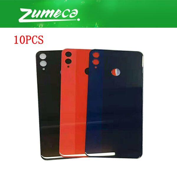 half off e3379 2aa6f 10PCS/Lot AAA Quality For Huawei Honor 8X JSN-AL00 JSN-L22 Battery Cover  Housing Case Door Rear Glass Black Blue Red Color