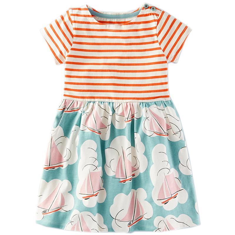 fb4c8a41867a7 Acheter Filles Été Robe Bébé Vêtements Licorne Parti Fleur Enfants Robes  Pour Les Costumes De Filles Robes Coton Princesse Robe Enfants De  23.18 Du  ...