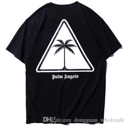 2019 Summer PA Palm Tree Logo stampato Donna Uomo T-shirt Tees Hiphop Streetwear T-shirt da uomo in cotone a manica corta