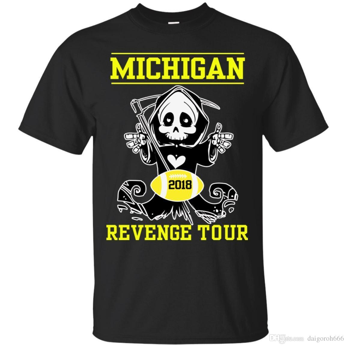 Black Navy T Shirt Michigan Revenge Tour Football T Shirt S 4xl