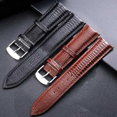 Best Leather Watch Straps >> 2019 Crocodile Pattern Genuine Cow Leather Strap Watch Band Strap For Hours Watchband 12 14 16 18 20 22 24mm For Branded Watch
