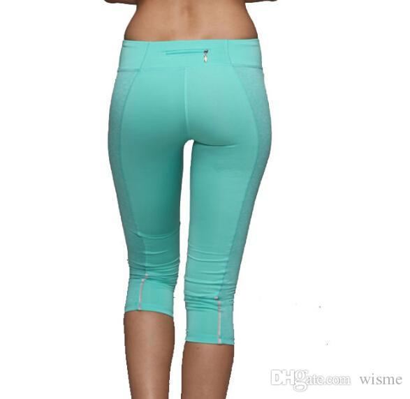 a6a24344e76ed 2019 Womens Running Pants Polyester Spandex Woman Sports Tights Elastic  Waist Fitness Sport Gym Ladies Trousers From Wisme