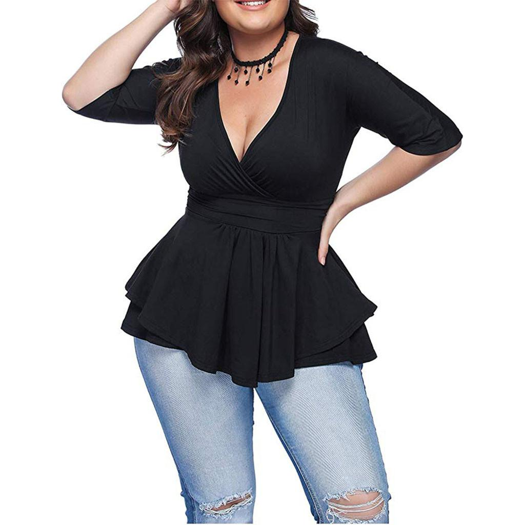 Frauen Shirts 2019 Mode Langarm Shirt Leinen Bluse Lose Plus Size Blosues Tops Damen Korean Fashion Kleidung XL-6XL