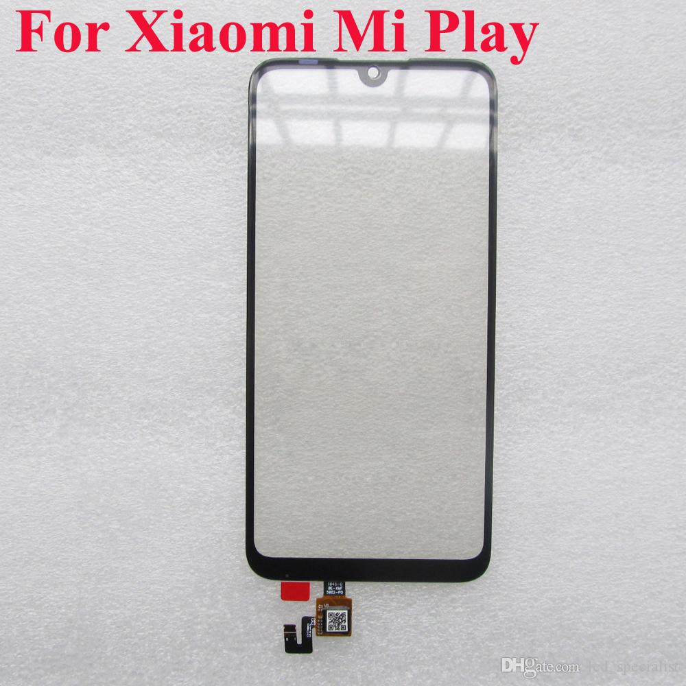 "For Xiaomi Play MI Play MiPlay 5.84"" Outer Front Glass Touch Screen Digitizer For MIPlay LCD Touch Sensor Repair Parts"
