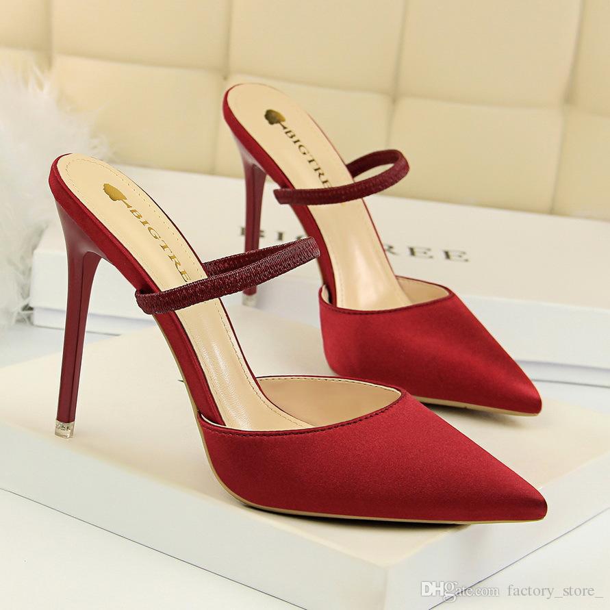 2fa33d4c72c Mules Shoes Women High Heels Luxury Shoes Women Designers Red Heels  Stiletto Pumps Women Shoes Black Heels Zapatos De Mujer Scarpe Donna  Comfort Shoes Mens ...