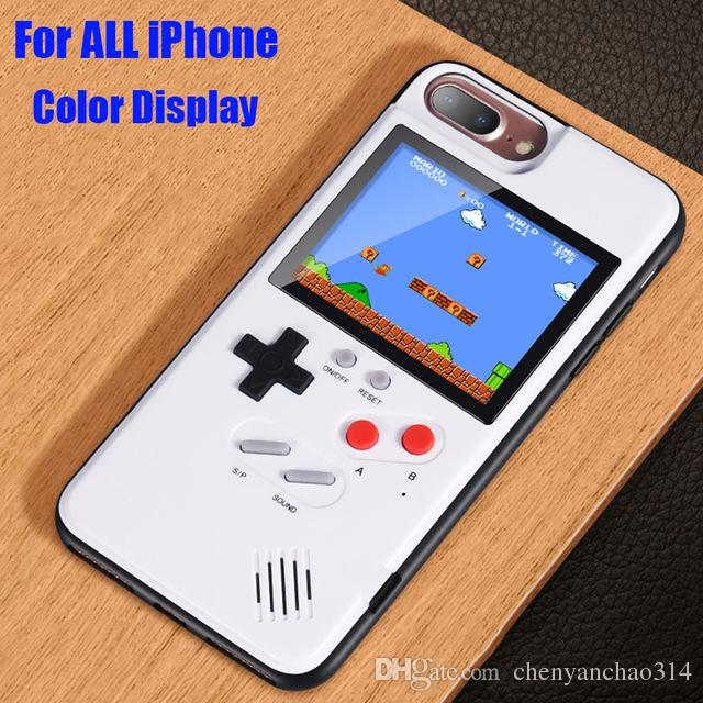 buy popular 21a27 7651c Game boy Soft TPU Phone Case For iPhone X XS Max XR 6 7 8 Plus Color  Display 36 Classic Game Console Silicone Cover
