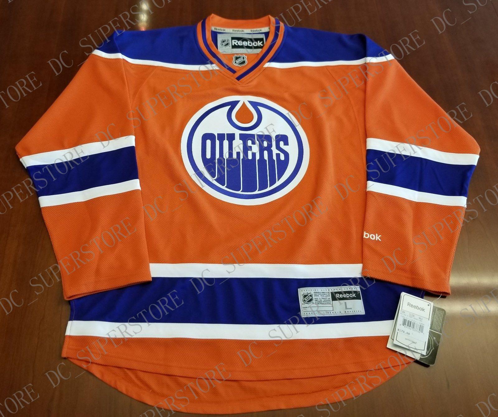 27f7644ce Cheap Custom Edmonton Oilers Premeir Jersey Third New Stitched Retro ...