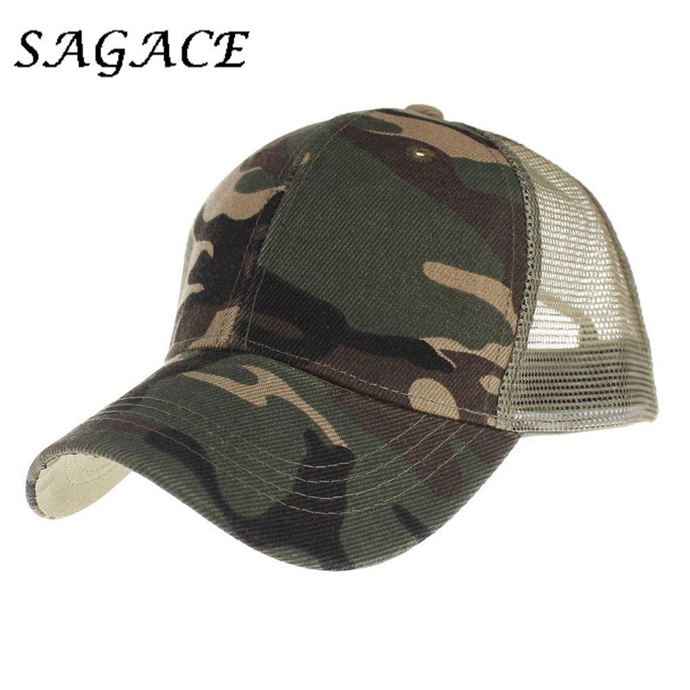 d008ada5e2a84 SAGACE Hats For Women Camouflage Baseball Cap Men Snapback Hat Unisex  Summer Mesh Caps Outdoors Breathable Adjustable Casual Cap Cool Caps Flat  Brim Hats ...