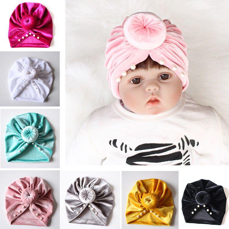 322c9cb597c4 2019 Cute Kids Girl Boy Baby Cotton Hat Infant Winter Warm Bow ...