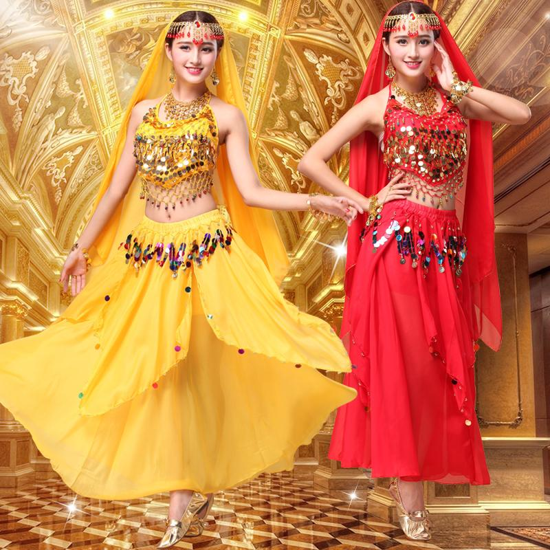 a8028a2b95 2019 Slim Fit Beauty Costume 2019 New Modern Sexy Girl Belly Dance Costume  Sequin Indian Dance National Style Suits From Blangel, $20.91 | DHgate.Com