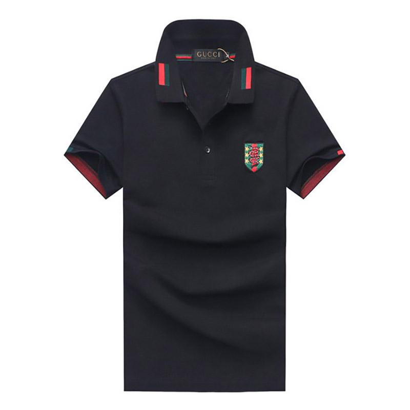 Brand Men's Polos Fashion Casual Embroidery Solid Branded Men Clothing Soft Breathable Short Sleeve Polos Cotton Blend Size M-2XL