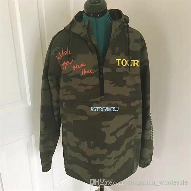 Camouflage Travis Scott AstroWorld Jackets Men Women Camo embroidery AstroWorld Fashion Casual Jacket Coats