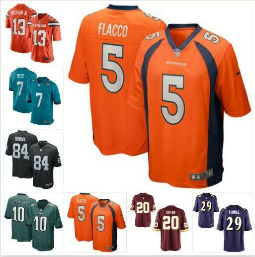 size 40 22816 2e52c DeSean Jackson Joe Flacco Jersey Eagles Broncos Antonio Brown Nick Foles  Odell Beckham Jr Landon Collins american football jerseys rugby usa