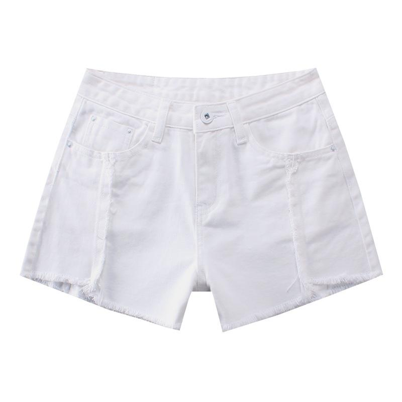 world-wide free shipping discount coupon attractive designs White Denim Shorts Women Zipper All-match Short Jeans Casual 2019 Summer  Beach Sexy Mini Skinny Short Feminino