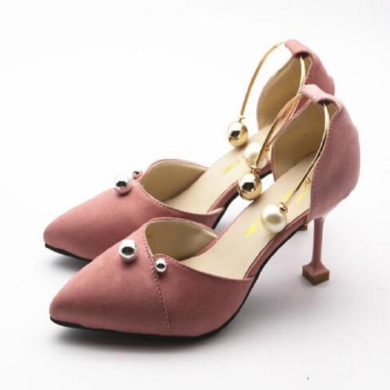 312776508ac3 Shoes Women Cute Pink Spring   Summer Slip On High Heels Lady Sexy Party  Night Club 8cm High Heel Pumps Lady Wedding Nude Shoes Womens Sandals From  Deals99