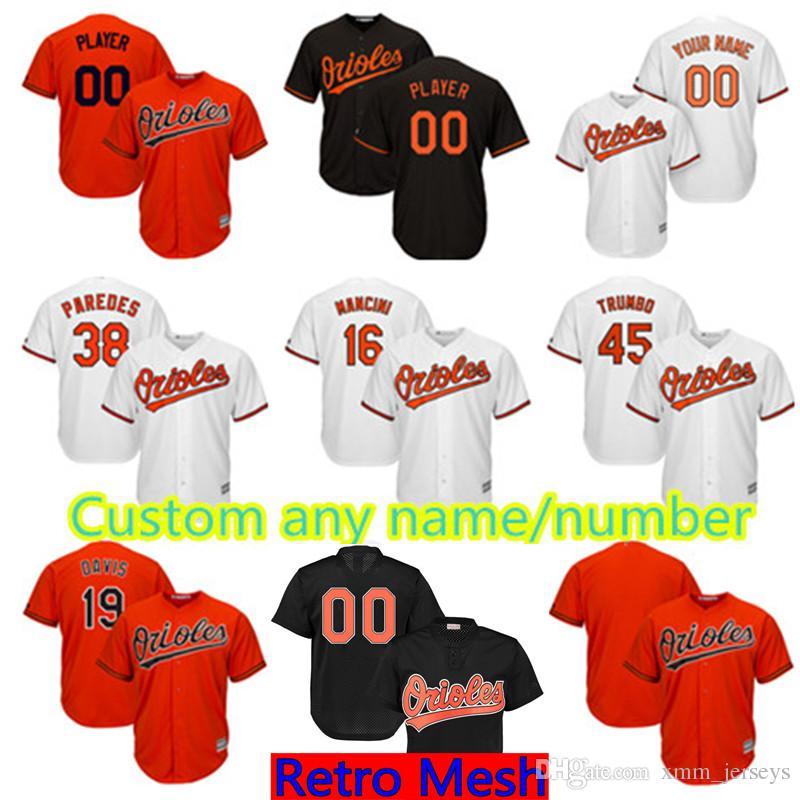 6c3d0268847 Baltimore Orioles Custom Jersey Mens 5 Brooks Robinson 6 Jonathan ...