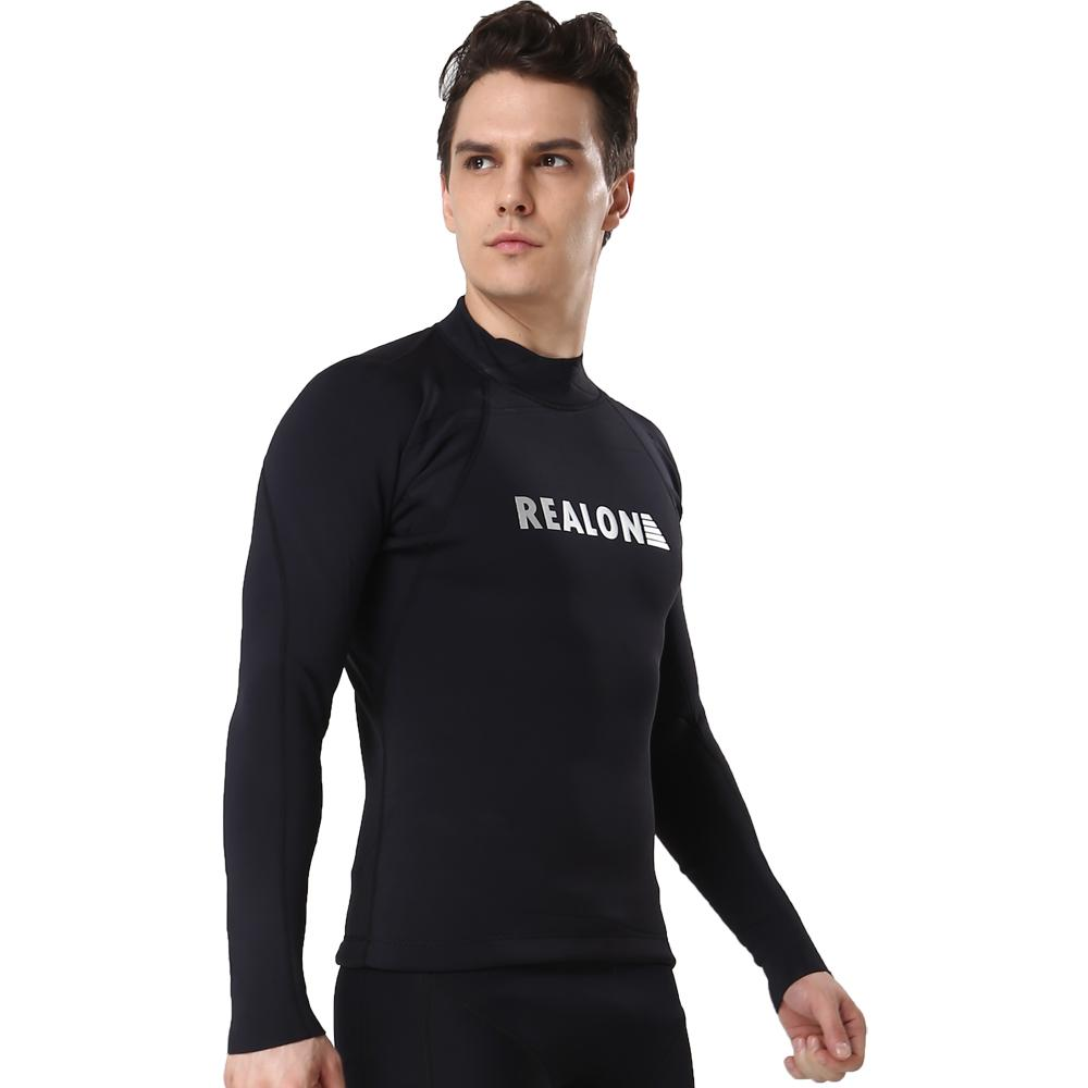 753facd44255 2019 Long Sleeves Surfing Suits With 2mm Neoprene Super Stretch Men Wetsuits  Thermal Top Rash Guard For Diving Surfing Swimsuit From Roadsun, ...
