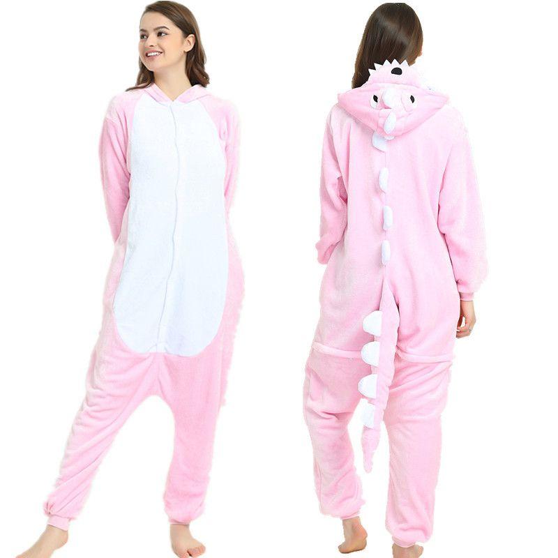 cbc9033c217a3b 2019 Atacado Kigurumi pijamas Animal Onesies Cosplay Costume fleece Onesie  Pijamas transporte da gota no Natal do Dia Das Bruxas