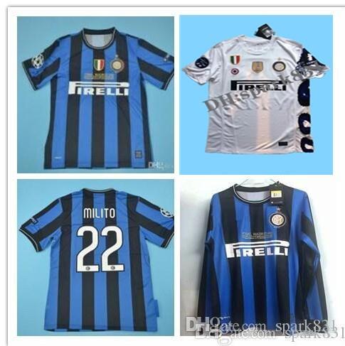38725dda3 2019 09 10 Inter Retro Soccer Jersey Milito J.Zanetti 2009 2010 Sneijder  Milano Classic MAGLIA Calcio Maillot Vintage Camiseta De Football Jersey  From ...