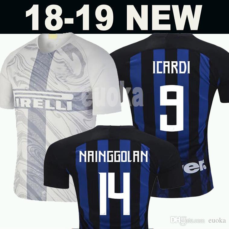 the latest 1c9d3 c56bd Thailand ICARDI LAUTARO Martinez Inter Milan 2019 soccer jersey PERISIC  NAINGGOLAN POLITANO champion league jersey 18 19 football kit shirt