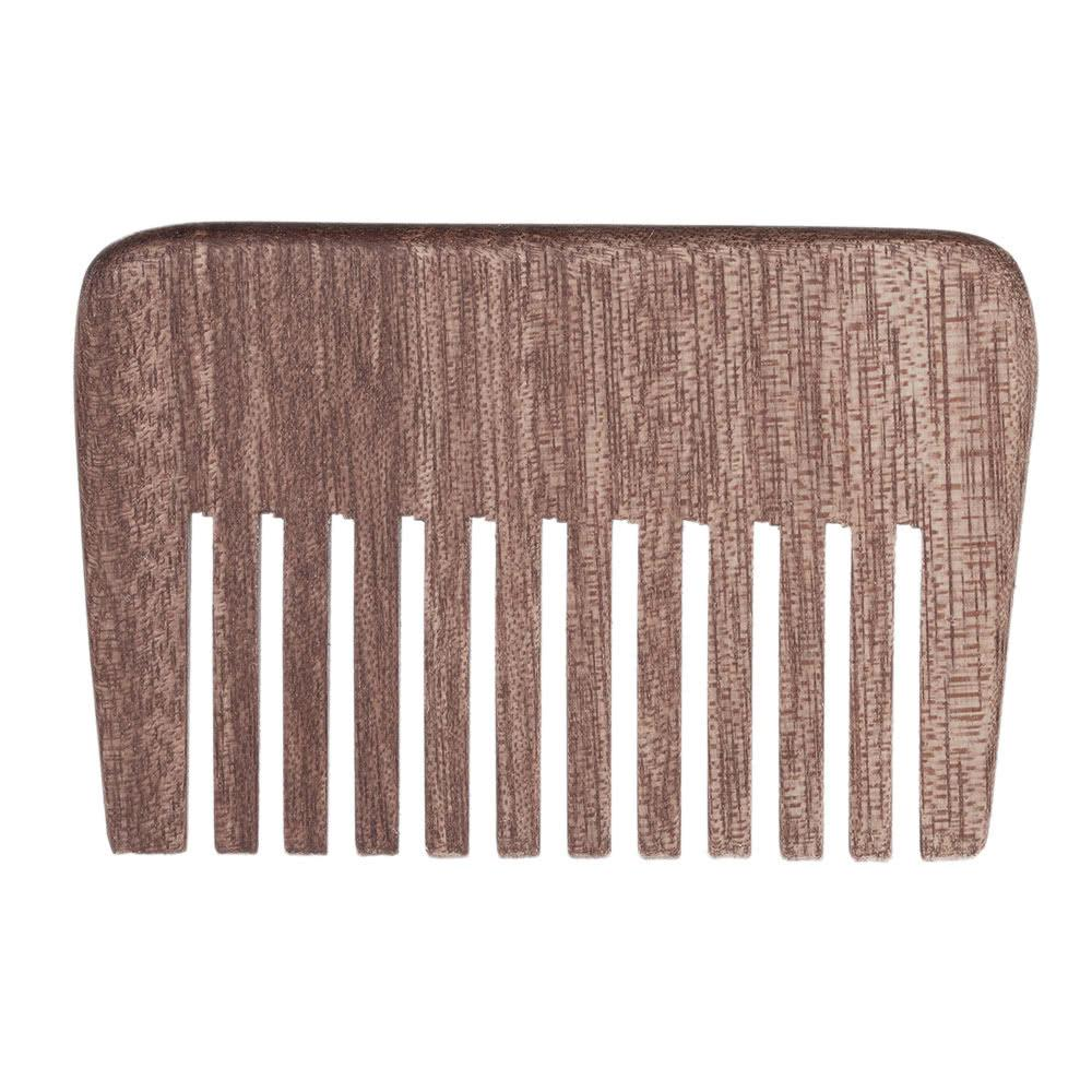 Men's Beard Hair Comb Wooden Mustache Comb Male Facial Hair Brush Anti-static Male's Pocket Comb W5127