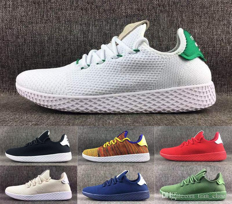 cheap for discount e4b52 ff927 2019 Tennis Hu Mens Running Shoes Pharrell Williams X Stan Smith Women  Runner Sports Shoe White Green Trainers Designer Sneakers Running Sneakers  Racing ...