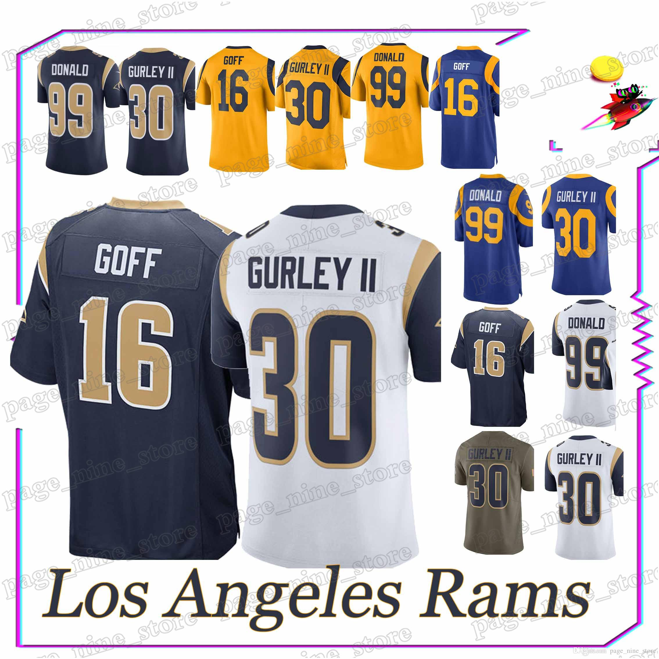 2018 Los Angeles Rams Jersey30 Todd Gurley 16 Jared Goff 99 Aaron Donald  High Quality 18 19 New Men Jerseys From Page nine store 944d579ed70