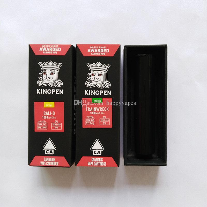 710 Kingpen Vape Cartridges Package 2019 Hot Child Proof 1 0ml Kingpen  Carts Gift Box Package 14 Flavor Option
