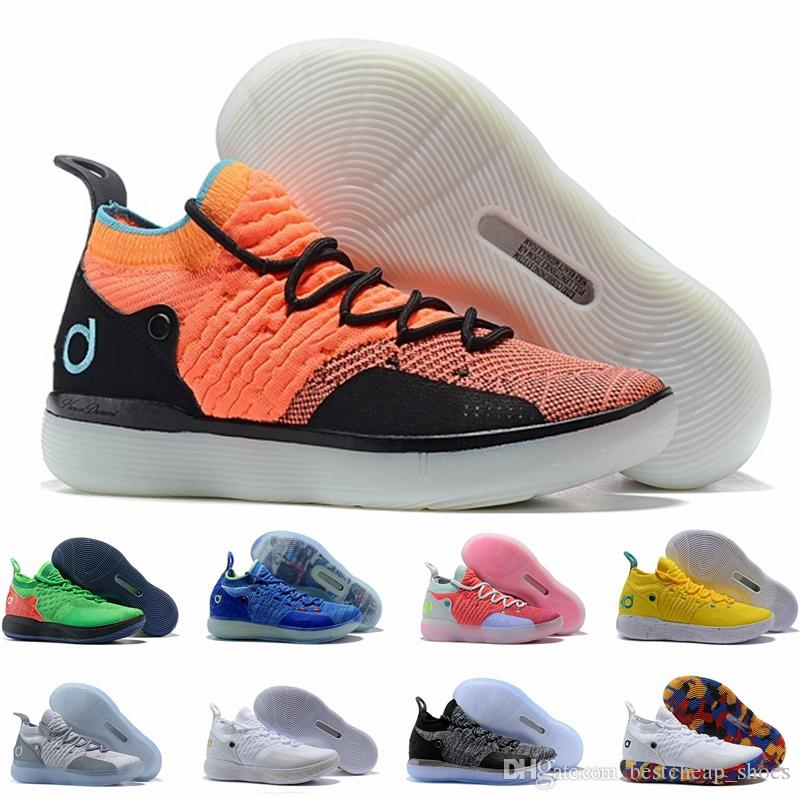 a5c99ff96bce 2019 Eybl Kd 11 Basketball Shoes Sneakers Men Academy Yellow Still Emoji  Twilight Pulse Kevin Durant 11s XI 2018 Trainers Zapatos Sports Shoes From  ...