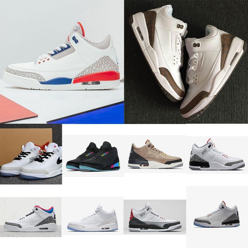 f980934f6fd 2019 Cheap New Mens Jumpman 3 NRG Basketball Shoes 3s Quai54 Black ...