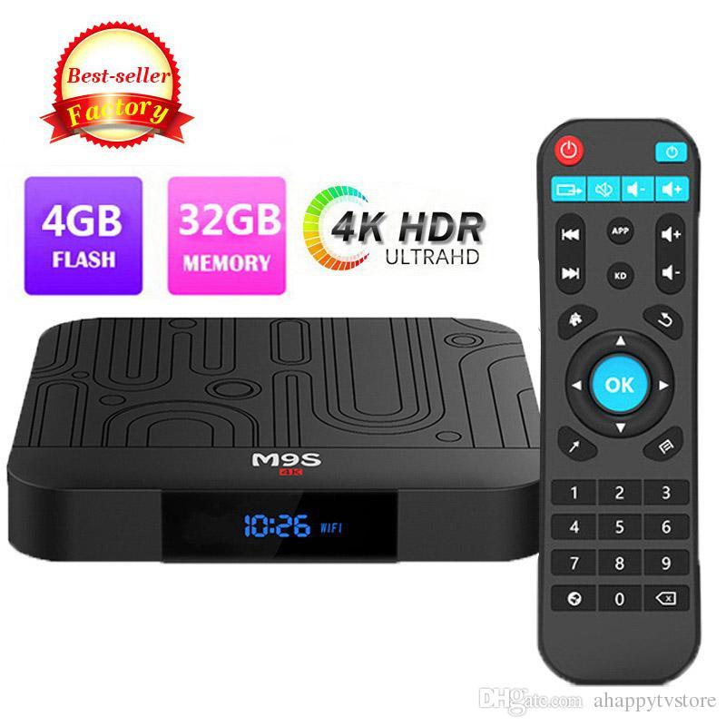 Android 8 1 TV Box M9S J1 Rockchip RK3328 4GB 32GB Support 4K Streaming Box  with Google Play Store Bluetooth WiFi IPTV Digital Display