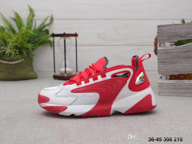 2019 Zoom 2K running shoes Men women Outdoor 2000 Race Red Black Sail/White  Orange Navy Sports sneakers M2k Tekno Trainer Size 36-45