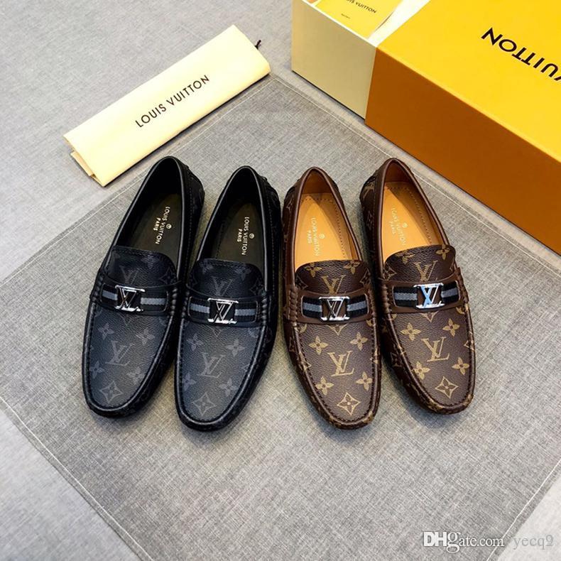 le dernier bf93f c6402 18ss 2020 designers marque italienne formelle gland mocassins hommes  chaussures habillées hommes costume bureau élégant chaussures hommes  mariage ...