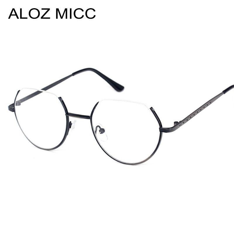 75f95926fe 2019 ALOZ MICC Alloy Glasses Frame Semi Rimless On Top Rim Eyeglasses For  Men And Women Optical Eyeglasses Prescription Spectacles UV400 A121 From ...