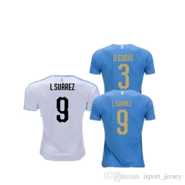 new concept 2f980 c1bb0 2019 Copa America L.SUAREZ Soccer Jersey 19 20 Home 9 L.suarez 21 E.cavani  Soccer Shirt #3 D.GODIN Away National Team Football Uniforms