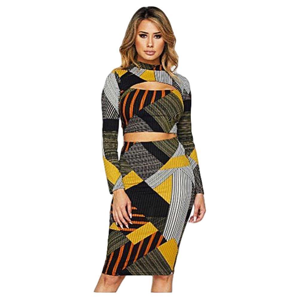 4350282dd7ff Sexy Geometry Stripe Spelling Colour Long Sleeves Nightclub Female ...