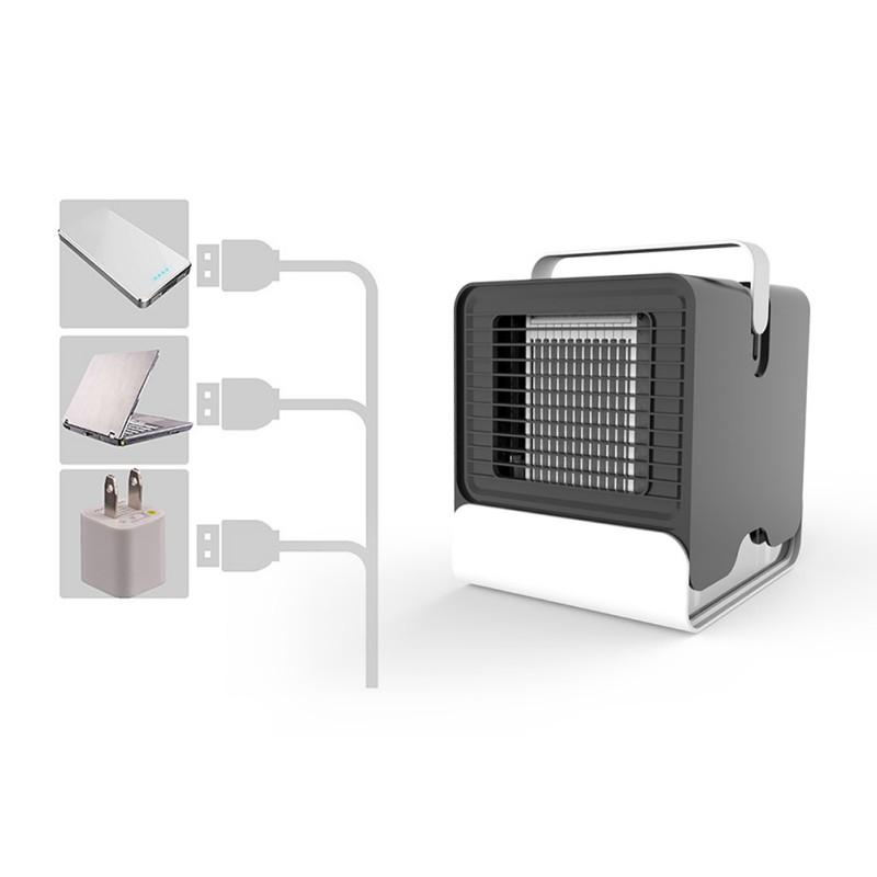 USB Mini Air Conditioner Cooling Fan Mobile Portable Refrigeration  Conditioner Fan Cooler Home Desktop Personal USB fans