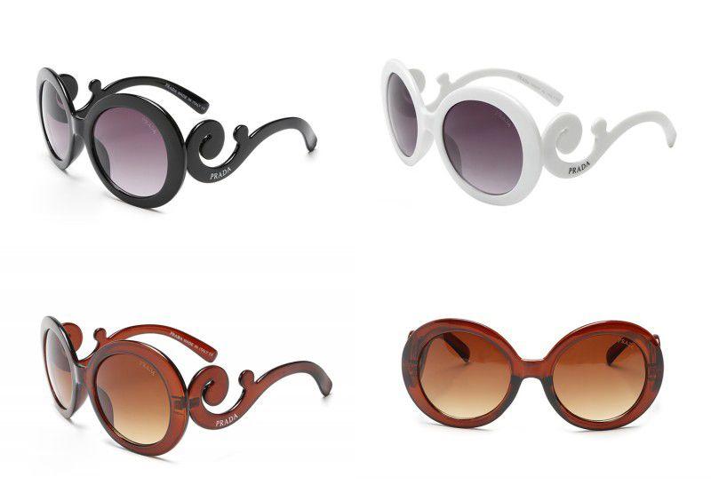 2e9e9025b4 Compre 2 UNIDS Estilo Barroco Gafas De Sol Redondas De Lujo Retro ...