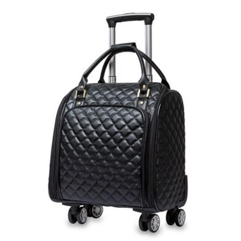 d9b932e877c8 New Hot Fashion Women Light Trolley Luggage Bag Rolling Suitcase Girls  Spinner Brand Waterproof Rolling Bag Travel On Wheels Large Duffel Bags  Cheap Duffle ...