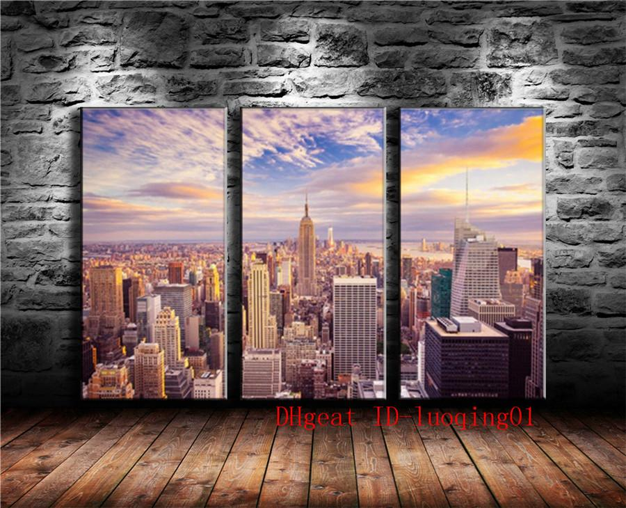 2019 New York City 3P Canvas Pieces Home Decor HD Printed Modern Art Painting On Unframed Framed From Luoqing01 1709