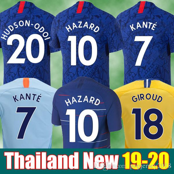 d5166f470 2019 Thailand HAZARD JORGINHO PULISIC Soccer Jersey 2019 2020 HIGUAIN  GIROUD KANTE Camiseta De Football Kits Shirt 18 19 20 Maillot Camisetas  From ...