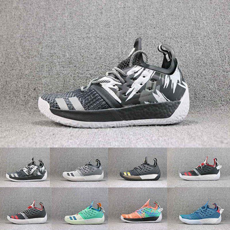 Zapatillas de baloncesto para hombre James Harden 2.0 Vol.2 2019 Classic Black White Oreo Harden Championship MVP Finales Zapatos de diseñador